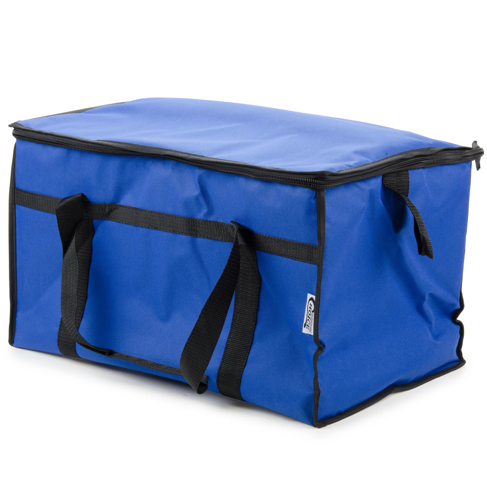 Soft Sided Insulated Cooler Bag - Blue Nylon