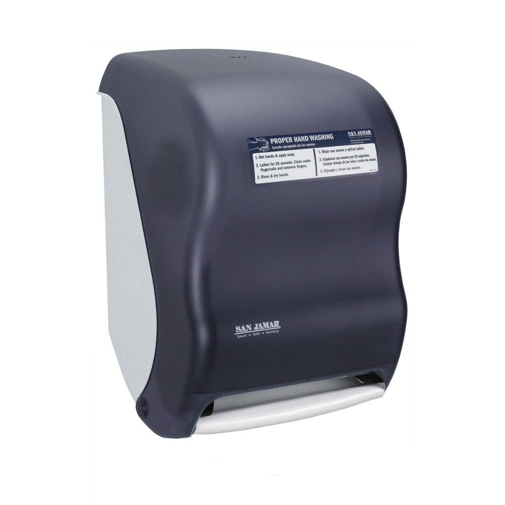 T Shirt Rag Dispenser ~ San jamar t tbkhw smart system classic hands free roll