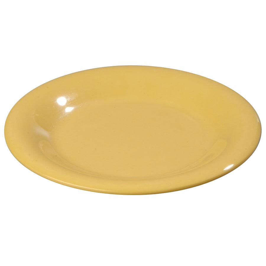 "Carlisle 3302022 5 1/2"" Yellow Sierrus Wide Rim Bread and Butter Plate - 48/Case"