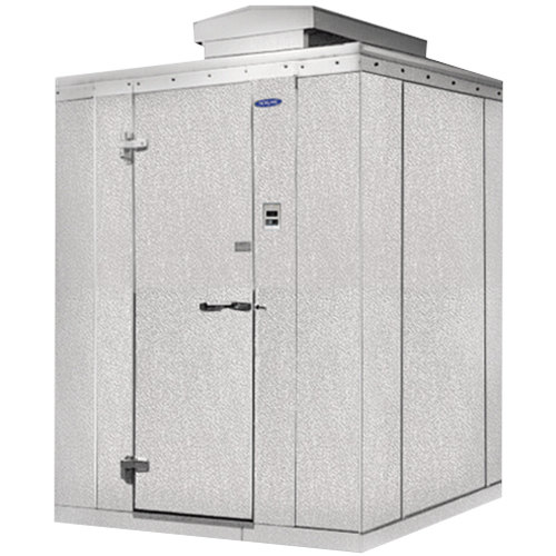 "Lft. Hinged Door Nor-Lake KODF68-C Kold Locker 6' x 8' x 6' 7"" Outdoor Walk-In Freezer"