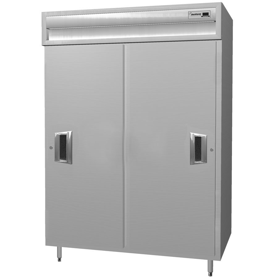 Delfield SAR2SSL-S 38 Cu. Ft. Two Section Shallow Sliding Solid Door Reach In Refrigerator - Specification Line