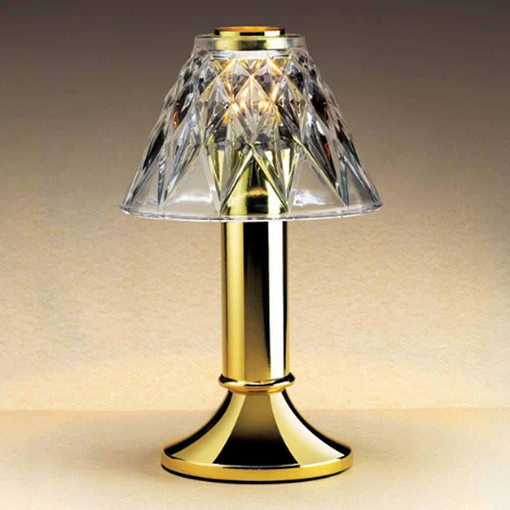 Commercial Table Lamps: Sterno Products 85200 Paige Polished Brass Fine Dining