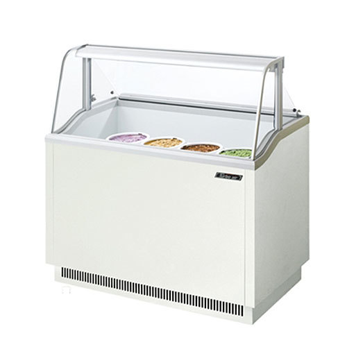 "Turbo Air Refrigeration Turbo Air TIDC-47W White 47"" Ice Cream Freezer Dipping Cabinet with Low Curved Glass - 10.31 Cu. Ft. at Sears.com"