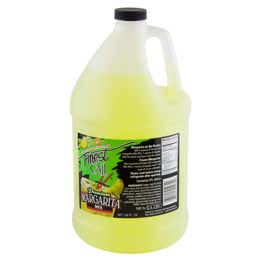 Finest Call Margarita Drink Mix Concentrate  Gallon