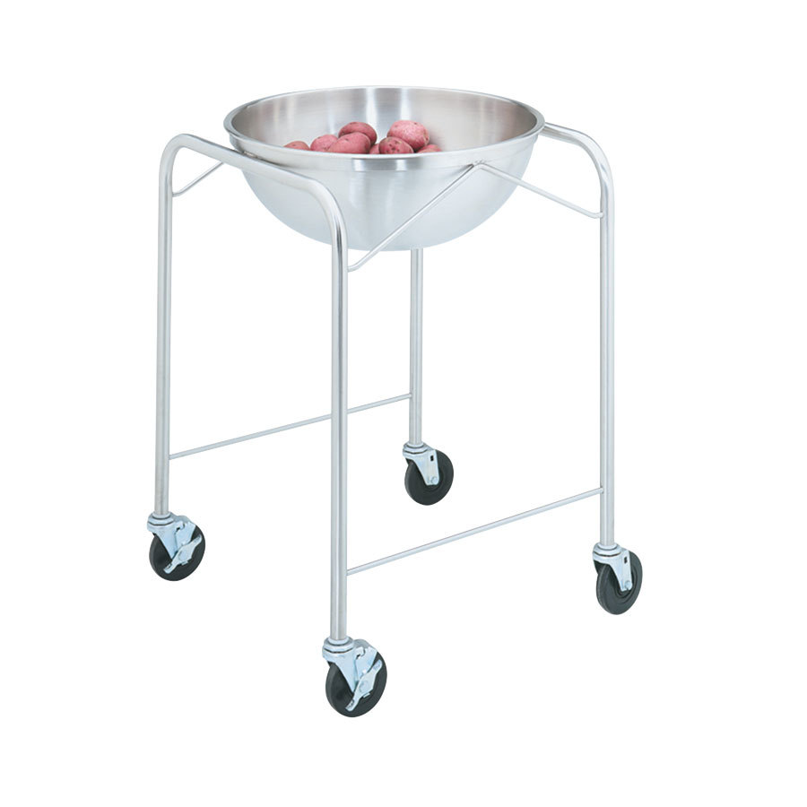 Vollrath 79301 Stainless Steel Mobile Mixing Bowl Stand with 30 Qt. Mixing Bowl