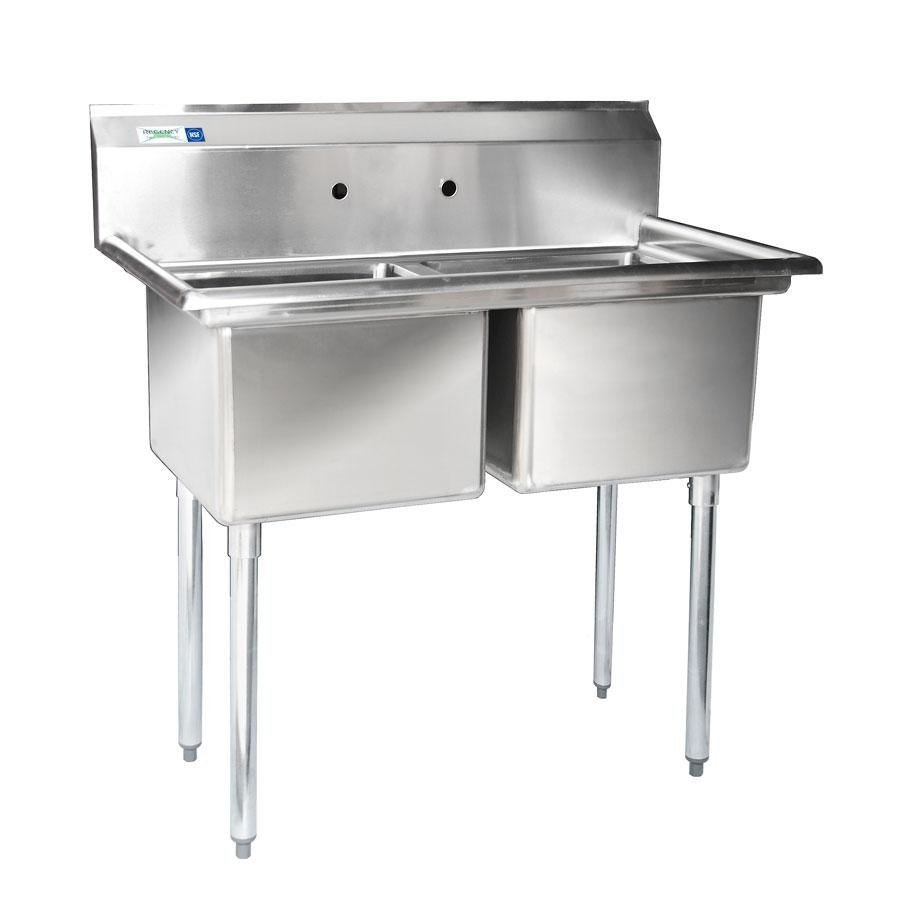 16 Gauge Stainless Steel Sink : Regency 16 Gauge Two Compartment Stainless Steel Commercial Sink ...