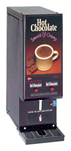 Cecilware GB2HC-CP Hot Chocolate Dispenser with 2 Hoppers - 120V