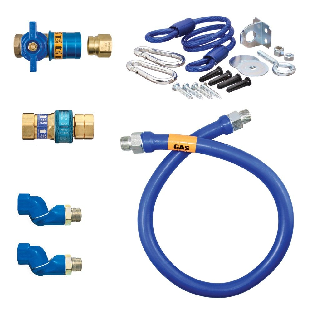 "48"" Dormont 1675KITCF2S Safety Quik Gas Appliance Connector Kit with SwivelMax Deluxe - 3/4"" Diameter"