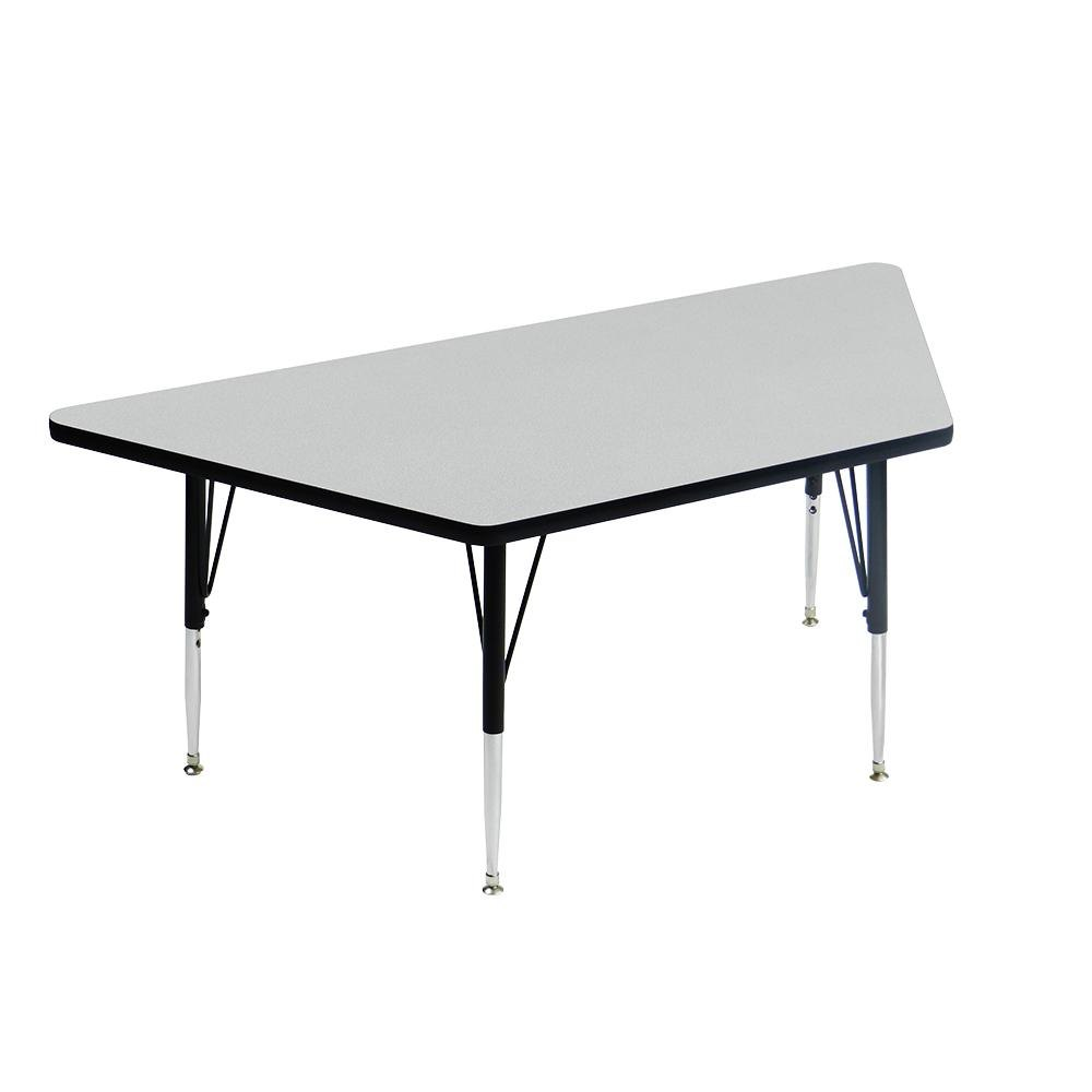 Correll econoline am3060 trp 30 x 60 gray adjustable for Trapezoid table