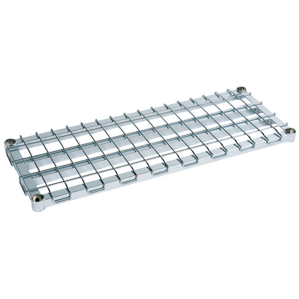 "Metro 2460DRS 60"" x 24"" Stainless Steel Heavy Duty Dunnage Shelf with Wire Mat - 1000 lb. Capacity"