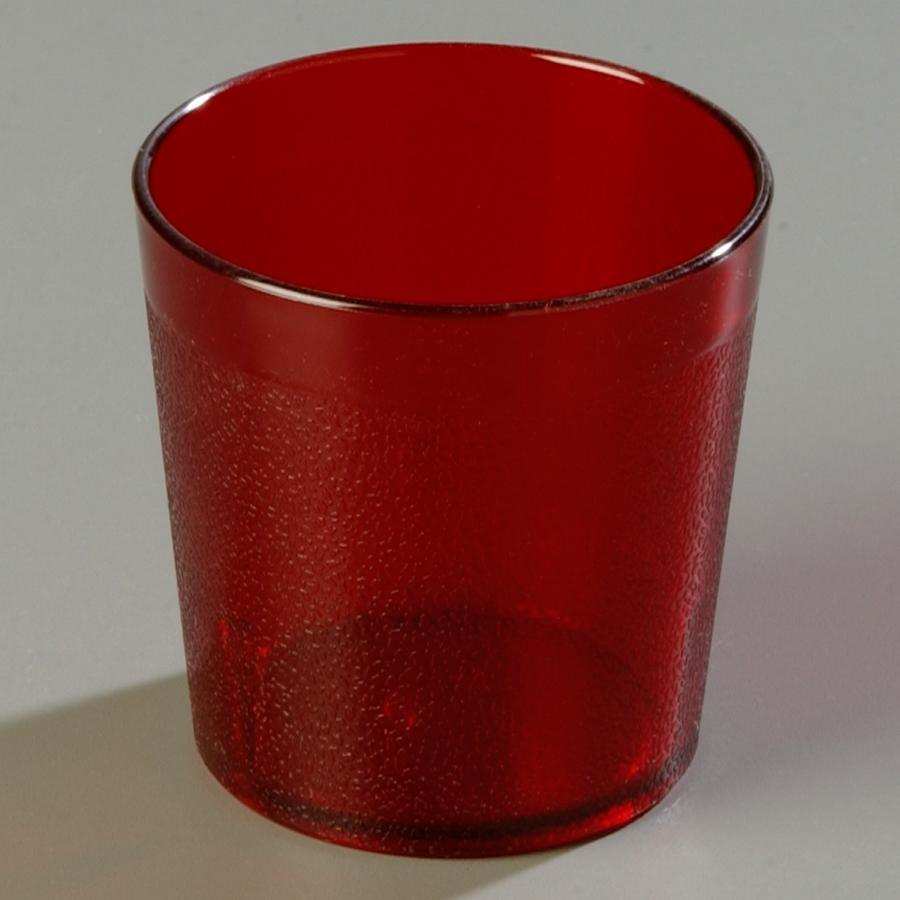 Carlisle 552910 Ruby Old Fashion Pebbled Tumbler 9 oz. - 72 / Case at Sears.com