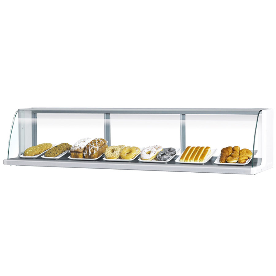 "Turbo Air TOMD-50-L 50"" Top Dry Display Case for Turbo Air TOM-50L Low Profile Open Display Case - White"