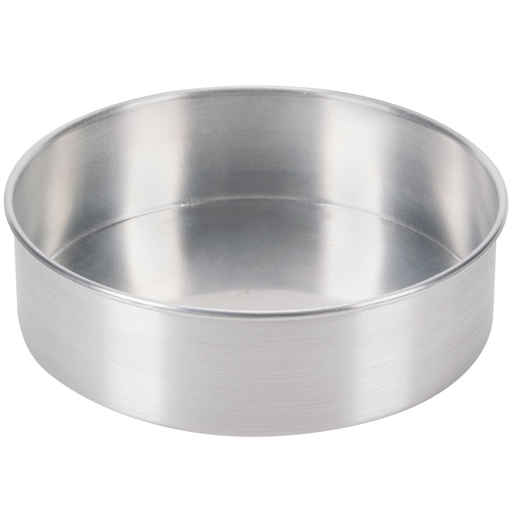 "9"" x 3"" Aluminum Removable Bottom Cake Pan"
