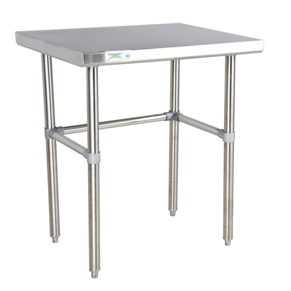 Design Stainless Steel Tables regency 30 x 16 gauge 304 stainless steel commercial open main picture