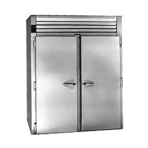 "Traulsen RIH232LP-FHS Stainless Steel 80.2 Cu. Ft. Two Section Roll-Thru Heated Holding Cabinet for 66"" Pan Racks - Specification Line"