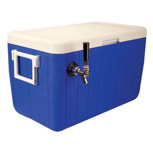 "Micro Matic HDCP-D1-48B Blue 1 Faucet 48 Qt. Insulated Jockey Box with 10"" x 15"" Cold Plate"