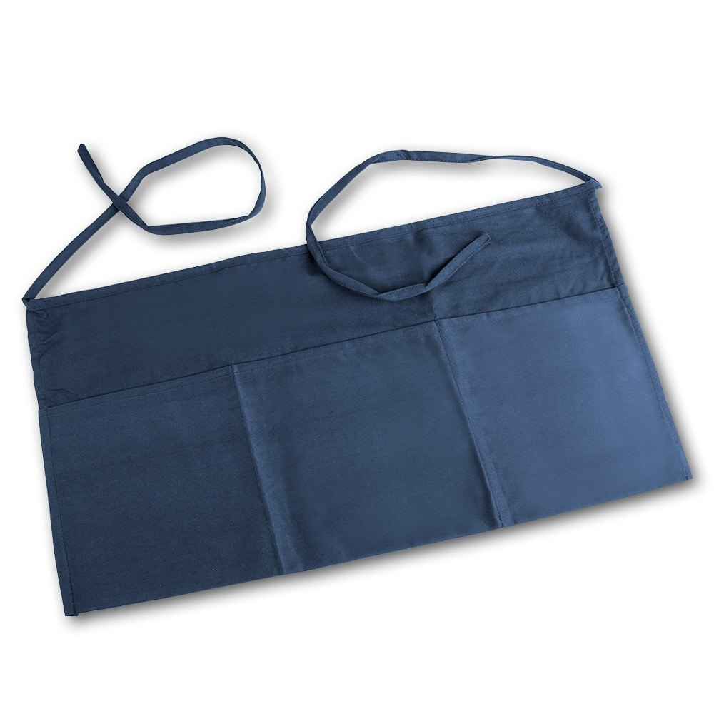 Navy Blue Choice Front of the House Waist Apron - 12 inchL x 24 inchW