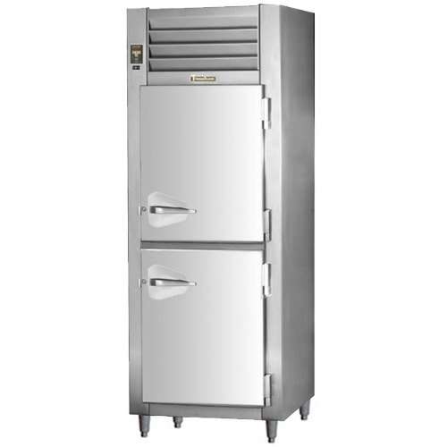 Traulsen RHT132NPUT-HHS Stainless Steel 20.4 Cu. Ft. One Section Solid Half Door Pass-Through Refrigerator - Specification Line