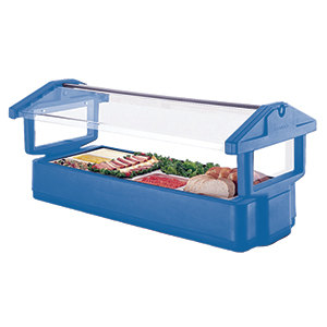 Cambro 4FBRTT 51 inch x 33 inch x 27 inch Navy Blue Table Top Food / Salad Bar