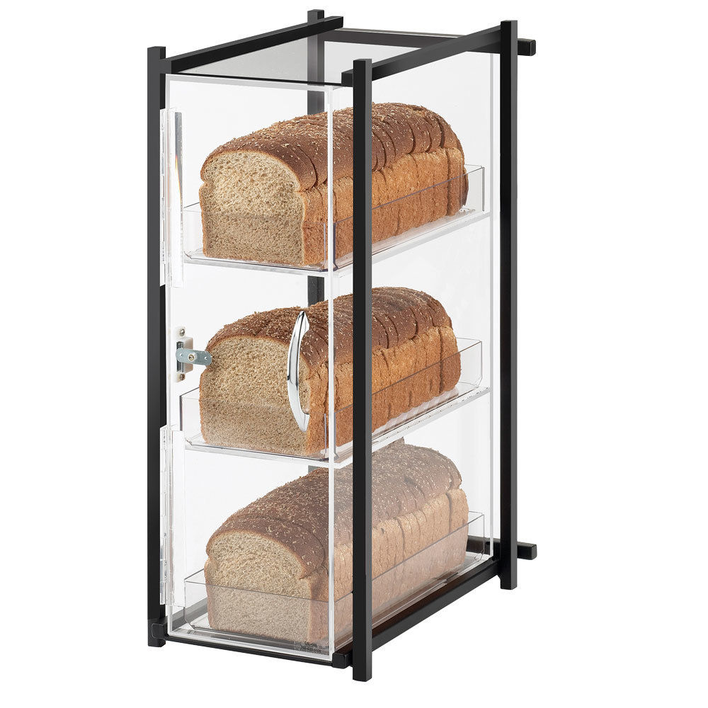 Cal Mil 1155-74 Silver One by One Three-Tier Bread Case - 9 1/2 inch x 14 1/4 inch x 19 3/4 inch