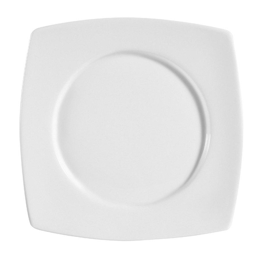 CAC RCN-SQ23 Bright White Clinton Round in Square Plate 13 1/2\