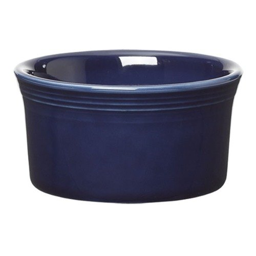 Homer Laughlin 568105 Fiesta Cobalt Blue 8 oz. Ramekin - 6 / Case