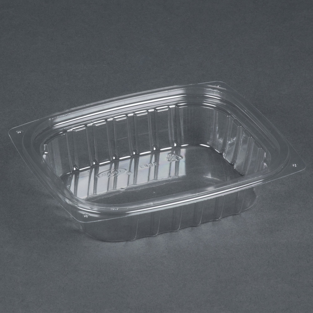 Dart Solo C8DER ClearPac 8 oz. Clear Rectangular Plastic Container - 1008 / Case