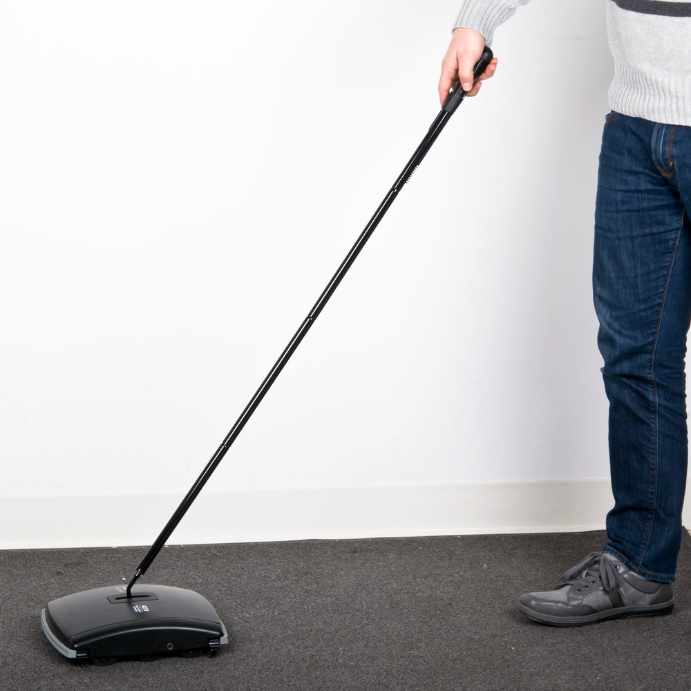 Rubbermaid Fg421388bla Dual Brush Floor Sweeper 9 1 2 Quot