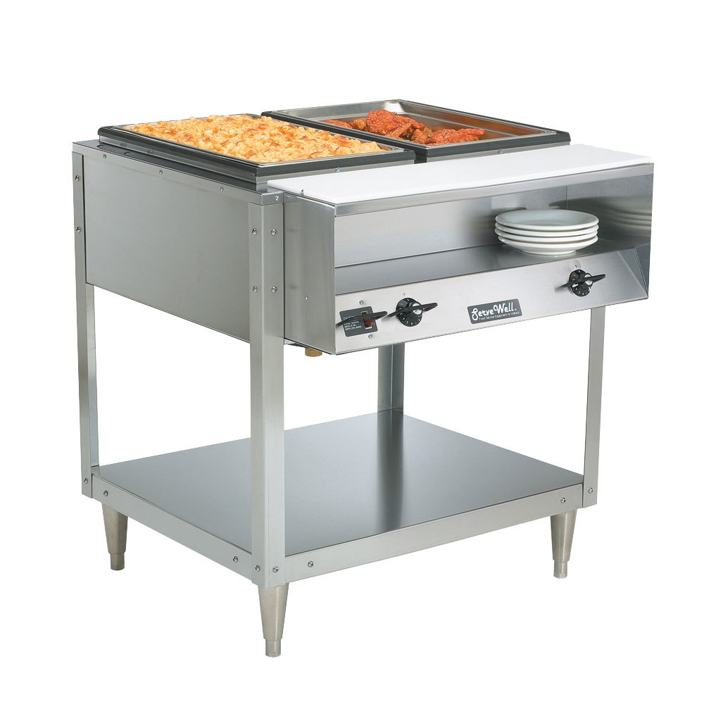 Vollrath 38116 ServeWell Electric Two Pan Hot Food Table 208/240V - Sealed Well
