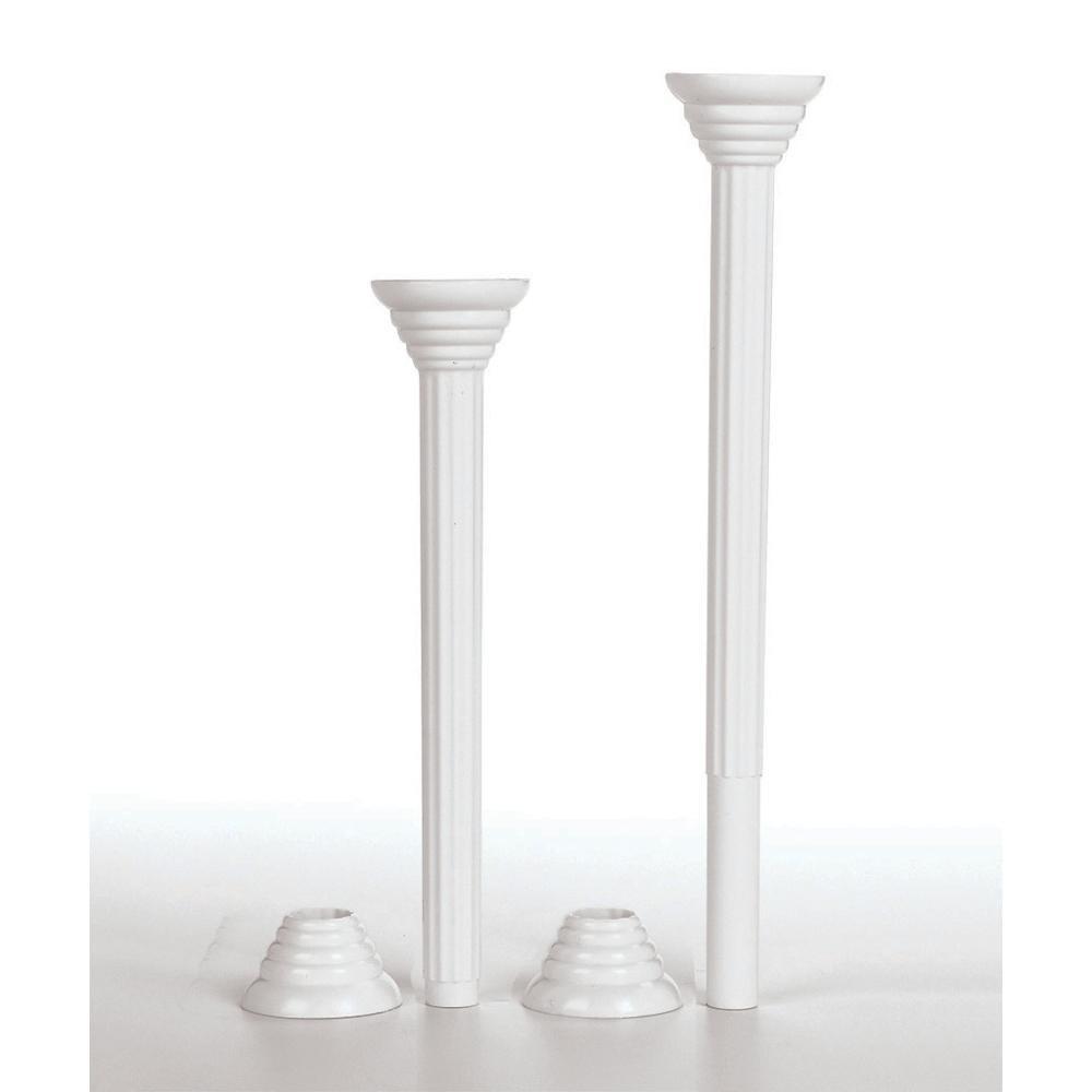 cake pillars and plates