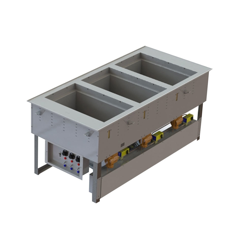 Vollrath 3667302D Modular Three Section Combination Hot / Cold Drop In Food Well - 120/208-240V