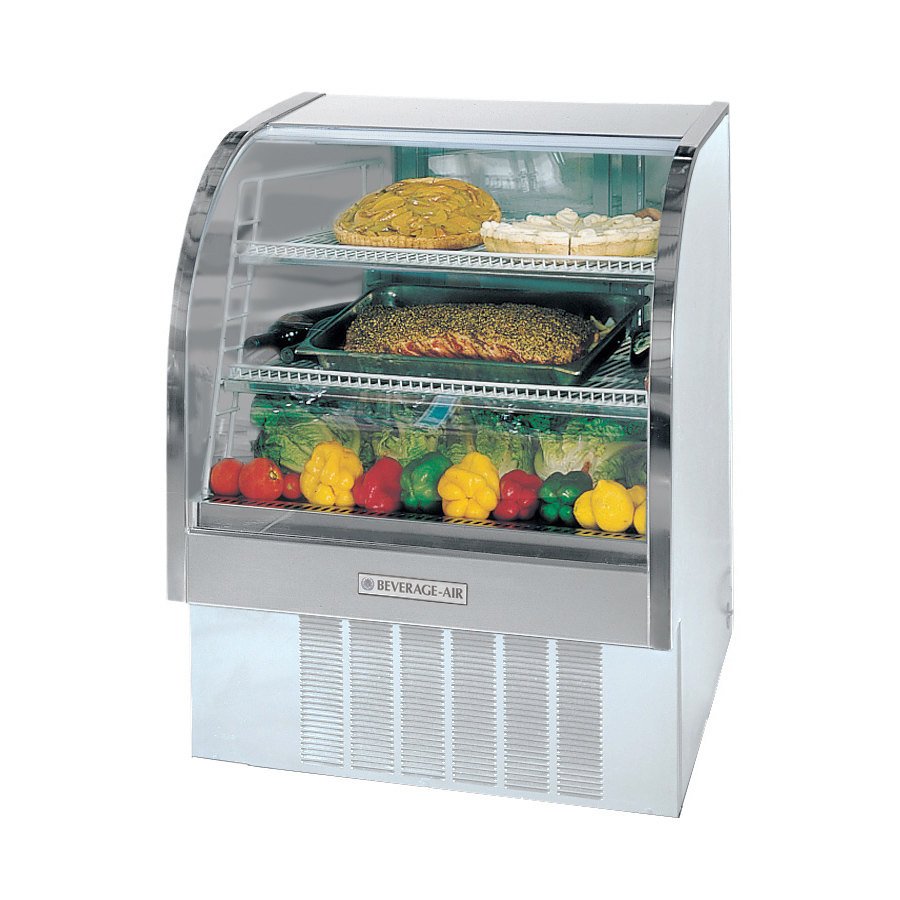 Beverage Air (Bev Air) CDR4/1-W White Curved Glass Refrigerated Bakery Display Ca