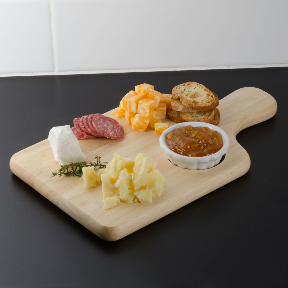 "Tablecraft 79A Bread / Charcuterie Board with Insert - 13"" x 7 3/4"" x 3/4"""