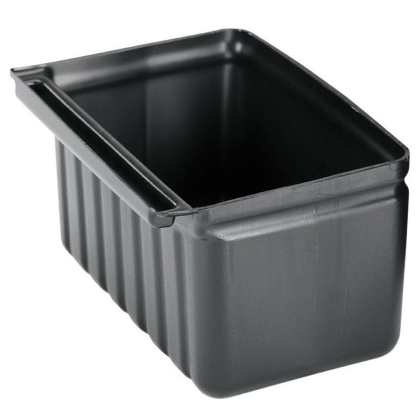 Cambro BC331KDSH110 Black 2.5 Gallon Silverware Holder - Black