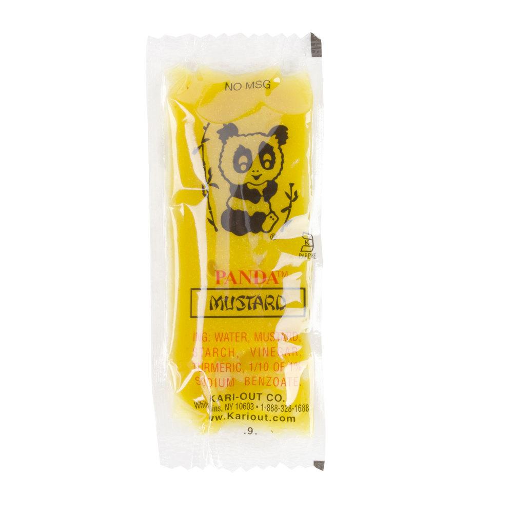 Spicy Asian Mustard Panda Mustard 500 8 Gram Portion