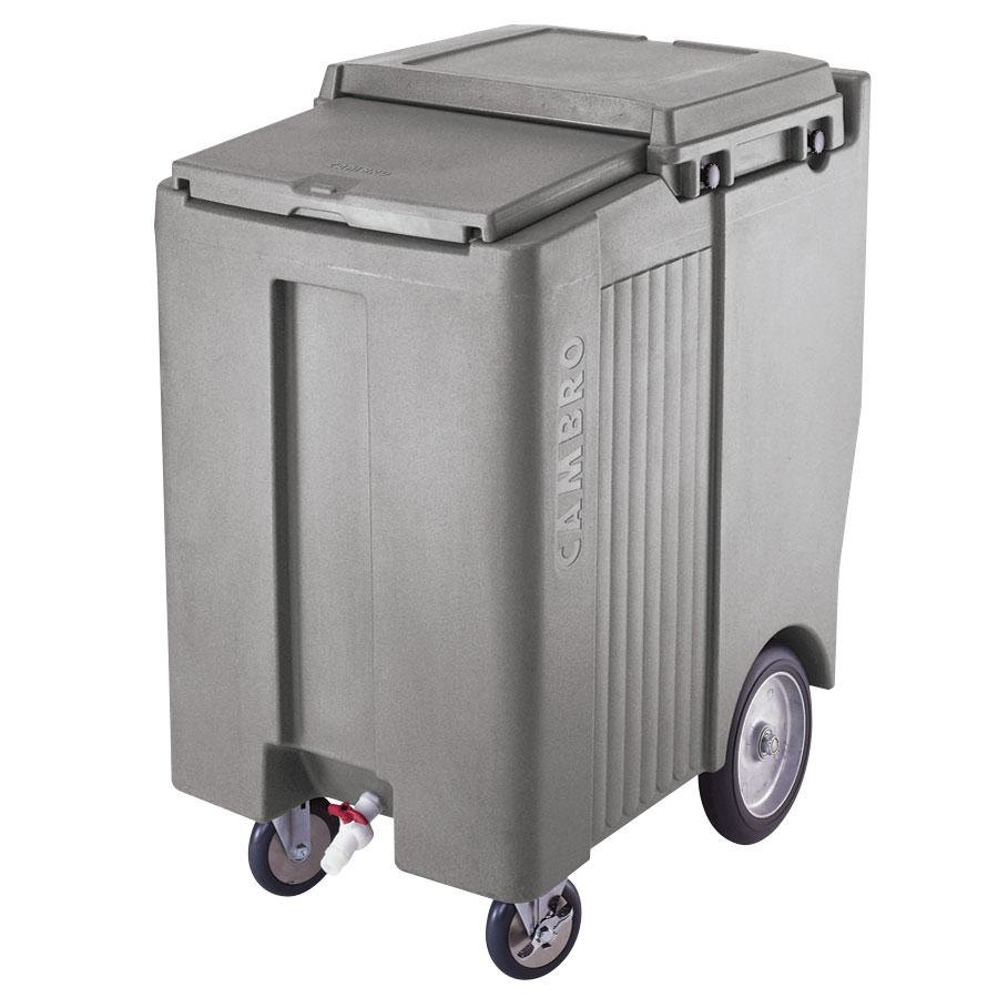 Cambro ICS200TB180 Light Gray Sliding Lid Portable Ice Bin - 200 lb. Capacity Tall Mod