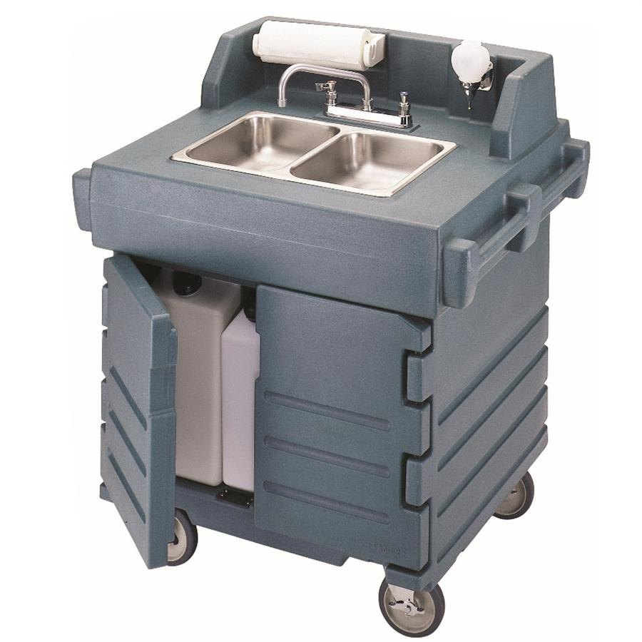 Cambro KSC402191 Granite Gray CamKiosk Portable Self-Contained Hand Sink Cart 110V