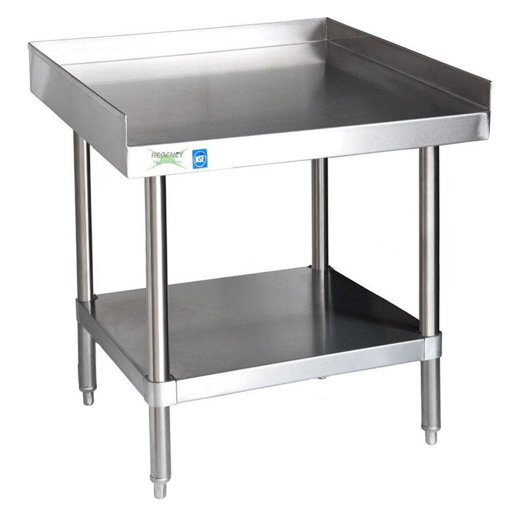 Regency 16 Gauge Stainless Steel 24 inch x 24 inch Heavy Duty Equipment Stand With Undershelf