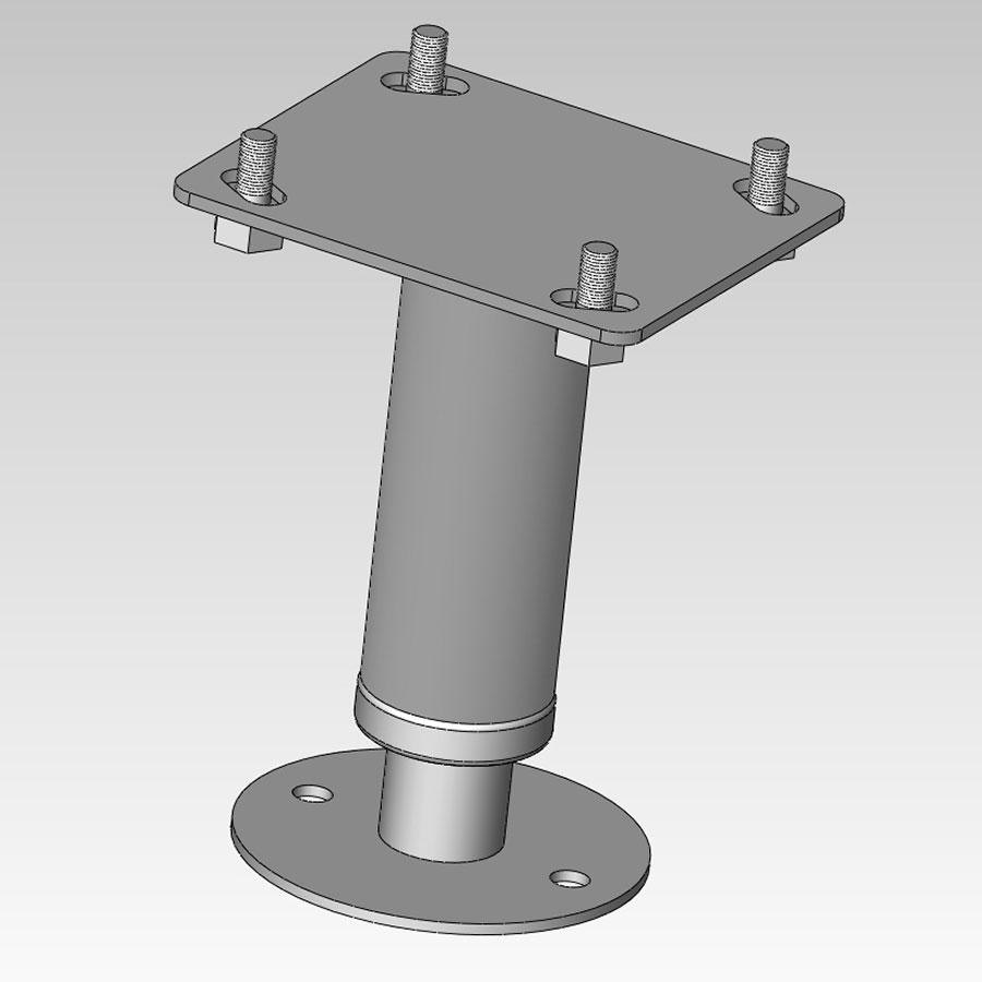 "Alto-Shaam 5001761 6"" Leg Assembly with Flanged Feet for AR-7E Electric Rotisserie Ovens and AR-7H Holding Cabinets"