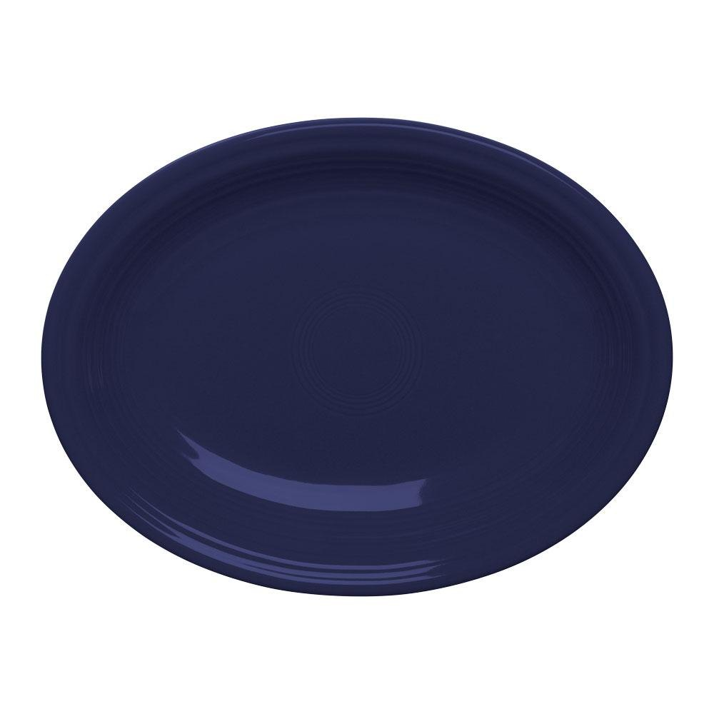Homer Laughlin 457105 Fiesta Cobalt Blue 11 5/8 inch Platter - 12 / Case