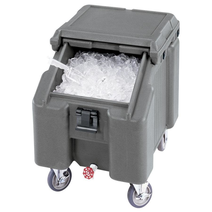 Cambro ICS100L4S191 Granite Gray Sliding Lid Portable I
