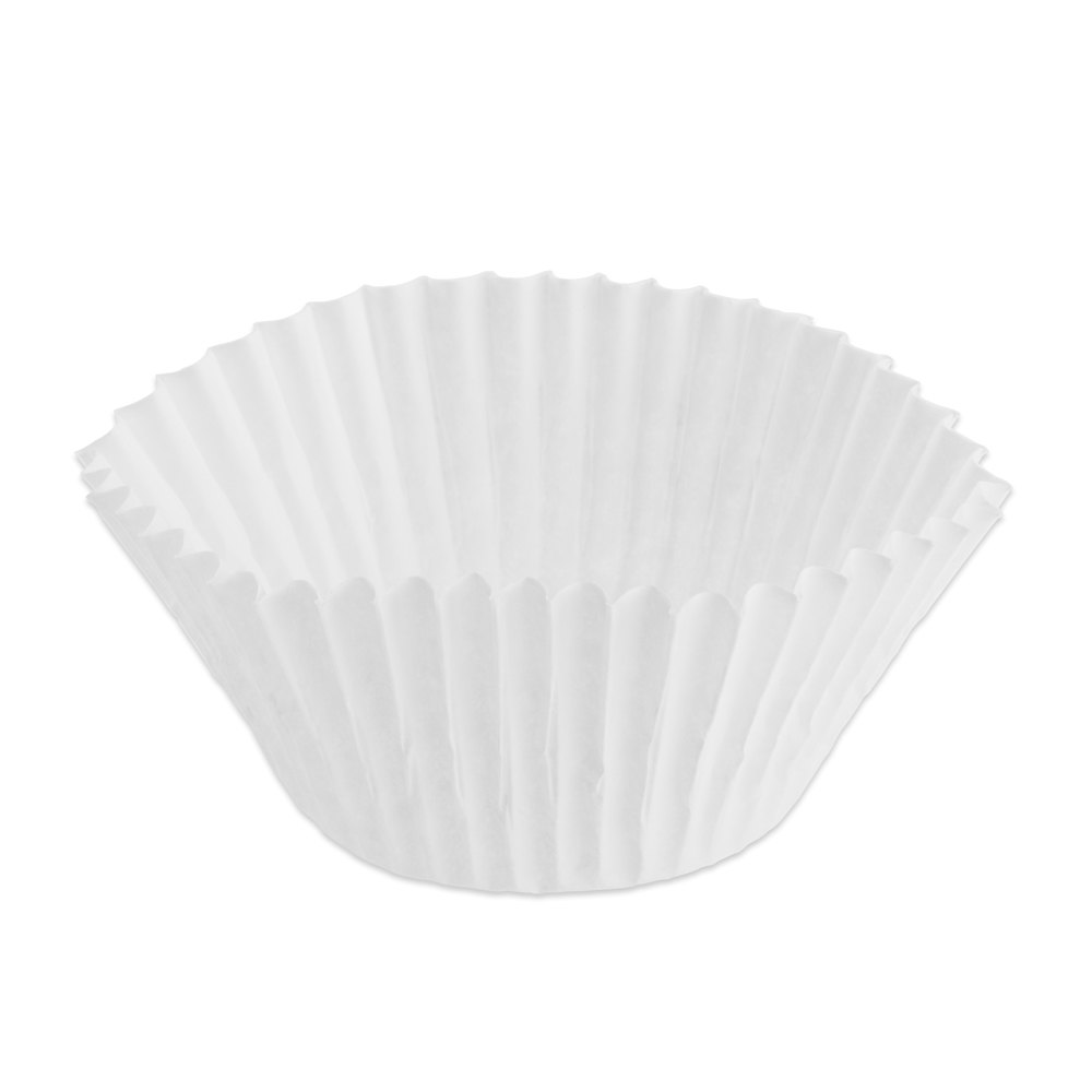 "Hoffmaster 610040 2"" x 1 3/8"" White Fluted Baking Cup 10,000/Case"