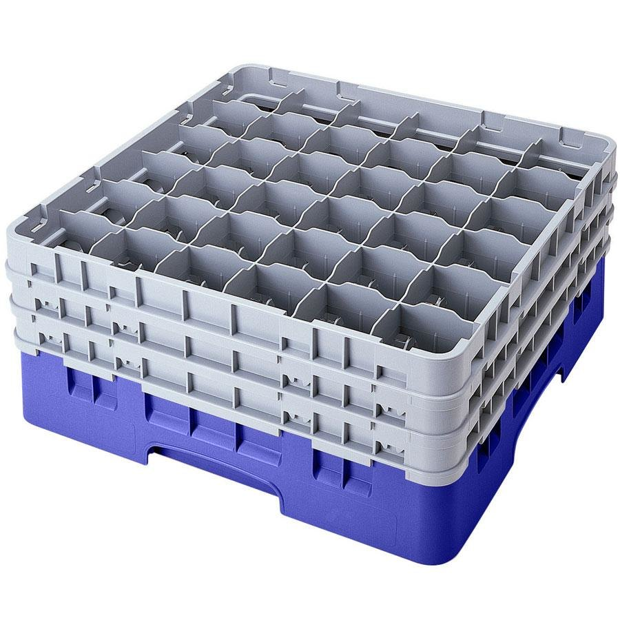 "Cambro 36S1114168 Blue Camrack 36 Compartment 11 3/4"" Glass Rack"