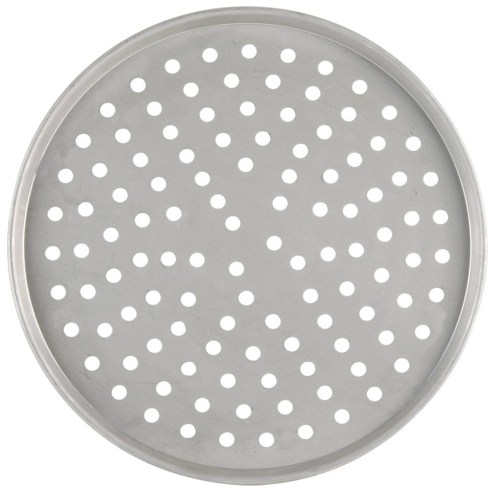 "American Metalcraft PT2009 9"" Perforated Tin-Plated Steel Pizza Pan"