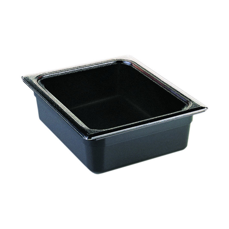 "Cambro 22CW110 Camwear 1/2 Size Black Food Pan - 2 1/2"" Deep"