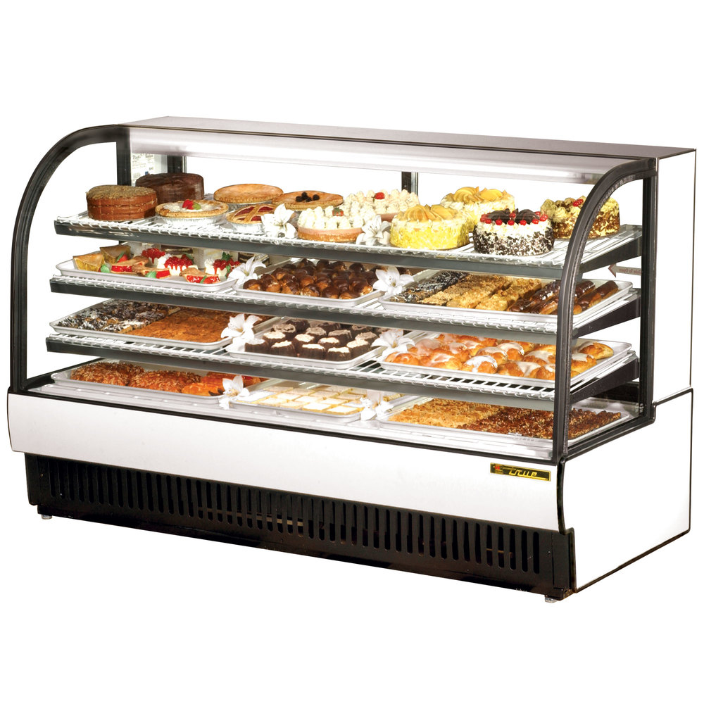True Tcgr 77 77 White Curved Glass Refrigerated Bakery