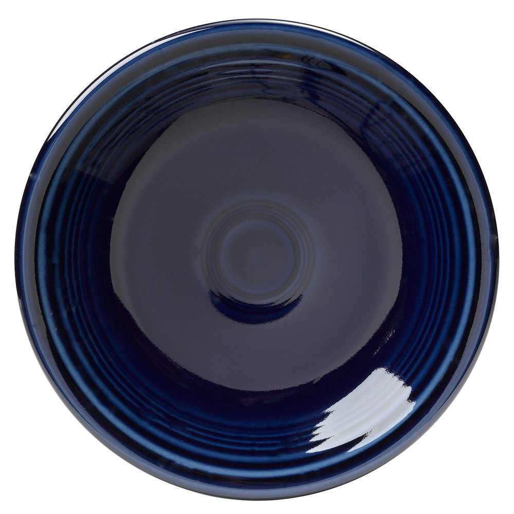 "Homer Laughlin 464105 Fiesta Cobalt Blue 7 1/4"" Salad Plate - 12/Case"