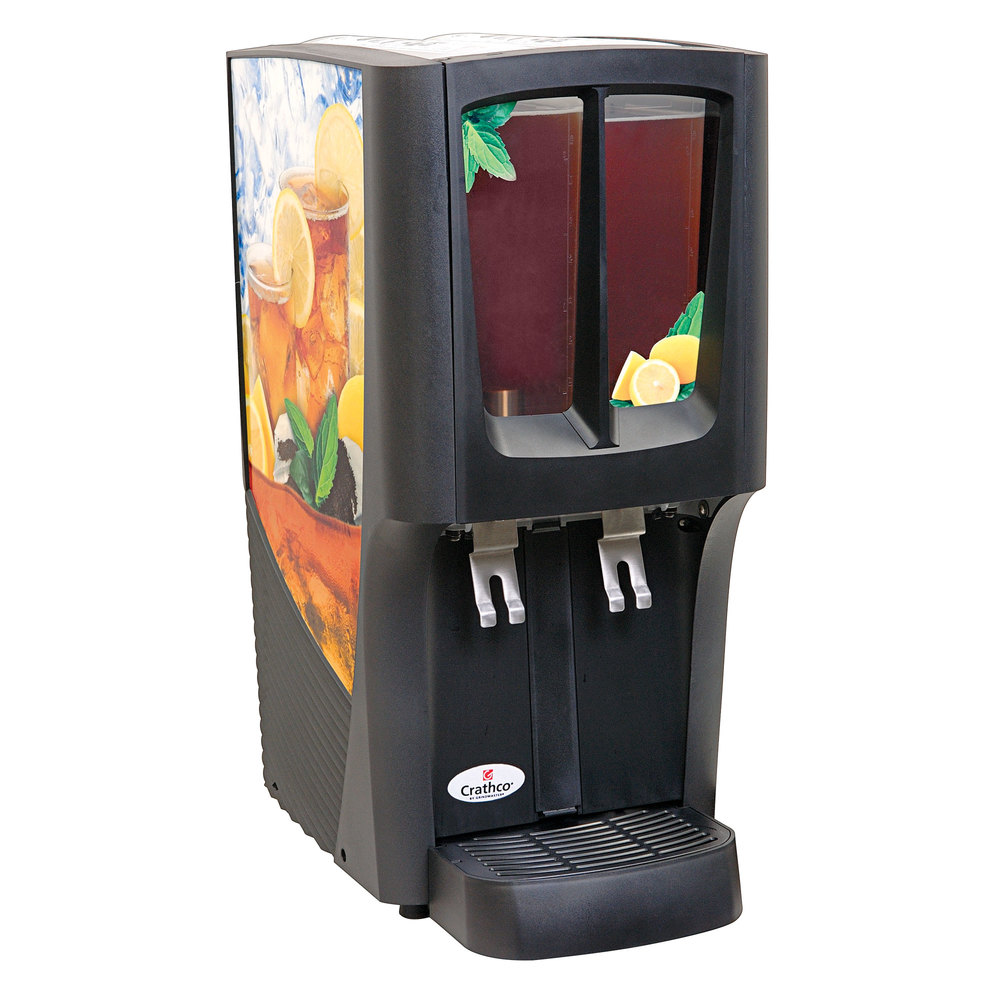 Crathco G-Cool Mini Duo C-2S-16 Double 2.4 Gallon Bowl Premix Cold Beverage Dispenser