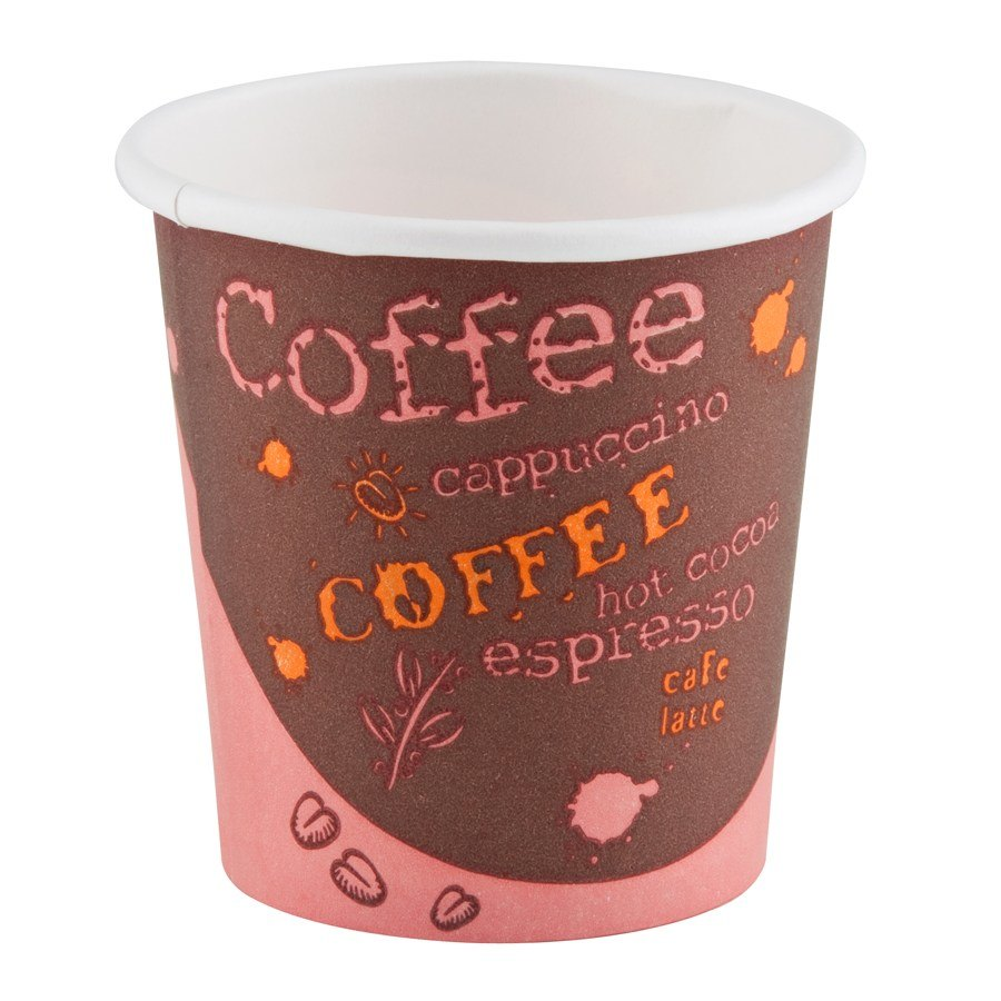 Choice 4 oz. Paper Hot Cup with Coffee Design 1000 / Case