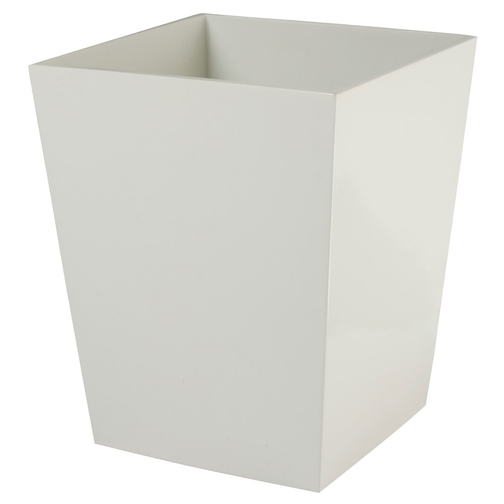 Spa White 6 Qt. Hotel Wastebasket